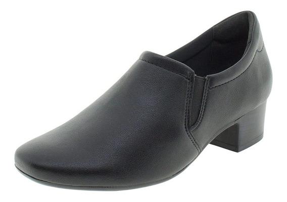 Sapato Feminino Salto Baixo Comfortflex - 1886305 Preto