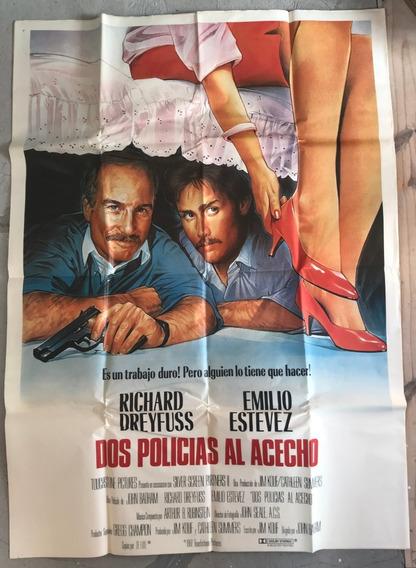 Afiche De Calle Pelicula Dos Policias Al Acecho Dreyfuss