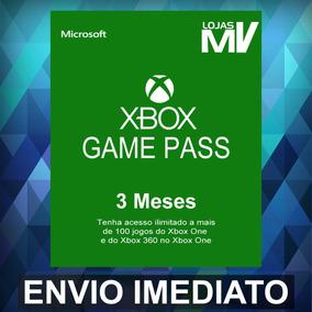 Xbox Game Pass 3 Meses Código De 25 Digitos Xbox One Oficial