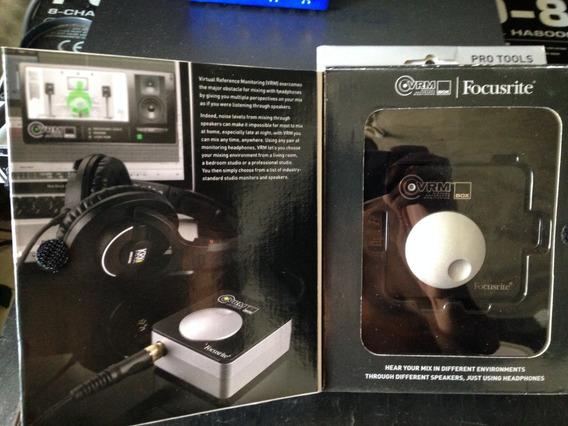Interface De Audio Focusrite Vrm Box Monitor Para Fone!!!