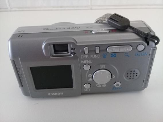 Câmera Fotográfica Canon Powershot A310 Com Todos Acessórios