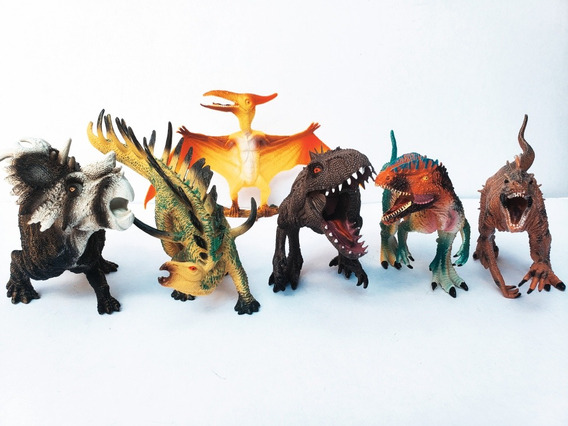 6 Dinosaurios Realistas, Indominux Rex, Velociraptor,