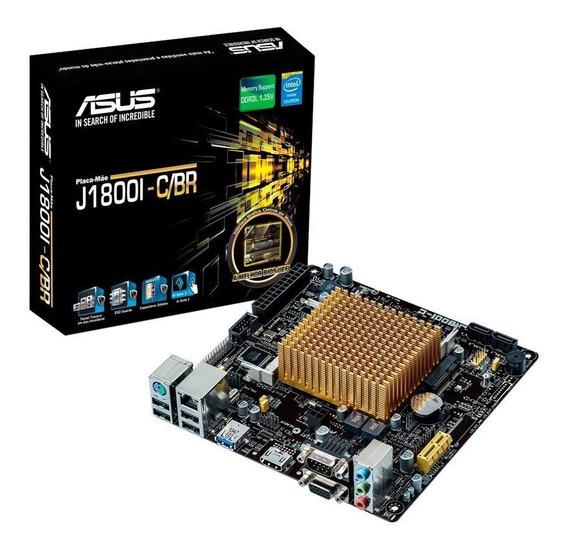 Placa Mãe Asus Mini Itx J1800i-c/br Intel Dual Core