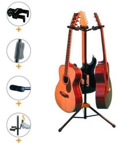 Suporte Triplo Hercules Para Guitarra, Baixo, Violão, Cavaco