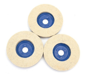 Kit C/ 03 Discos De Polimento De Feltro 95/100mm