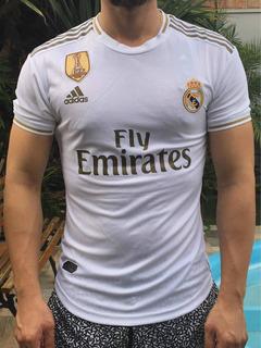 Camisa Real Madrid 2020 Home Branca Versão Jogador Benzema