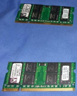 Memorias Ram Sodimm 2x1 Gb Notebook Laptop Ddr2 Kingston