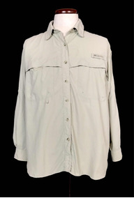 Camisa Columbia Beige Pfg Technology