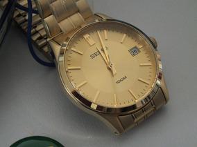 Relógio Seiko Original Unissex Dourado (médio)