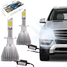 Kit Modelo Xenon Led Lampada H1 6000k Super Branca Headlight