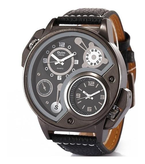 Relógio Masculino Oulm 3578 Original Militar Original 2 Relógios Funcional Modelo Grande Frete Grátis