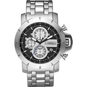 Relógio Fossil Aço Inox Cronógrafo Jr-1265