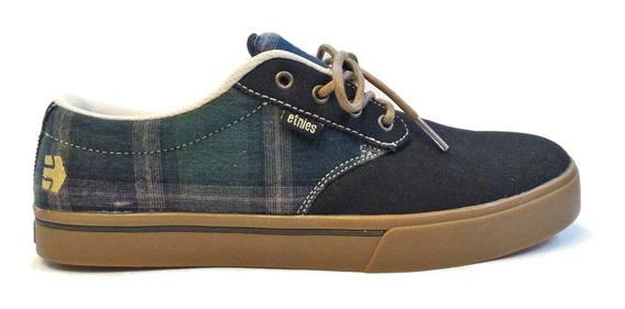 Tênis Skate Etnies Jameson 2 Eco Black/plaid Import Promoção