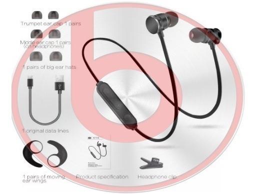 Fone Ouvido Bluetooth - Sem Fio Stereo Magnetico - Otimo Som