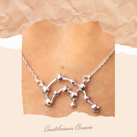 Collar Constelaciones Acuario De Plata 925