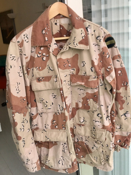 Rara Chaqueta Camo Desert (dbdu) U S Army 1 Parche Forscom