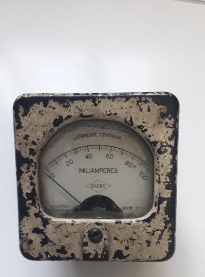 Miliamperimetro Vintage Engro 100ma Dc
