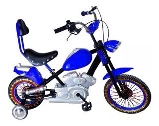 Bici Tipo Chopera Niños R16 Sonido Moto + Gorra O1