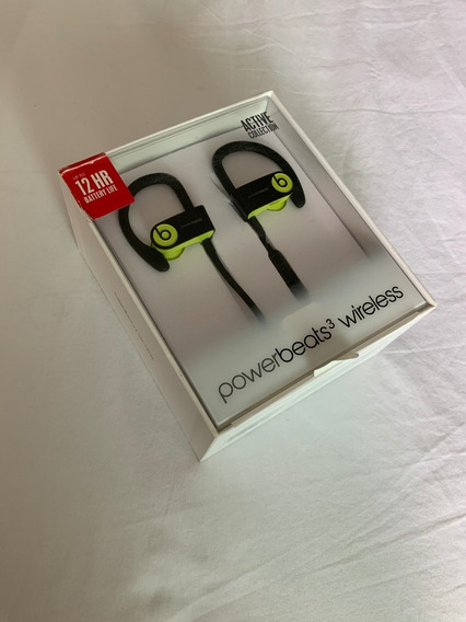 Fone Powerbeats 3 - Shock Yellow - Wireless A1747