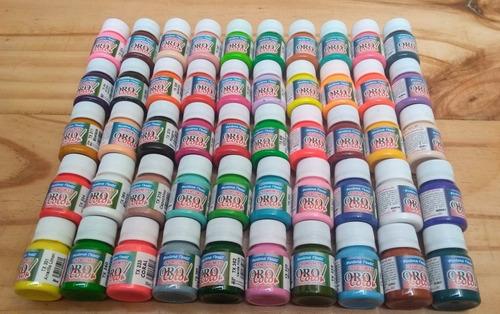Kit 50 Pinturas De Tela Orocolor Incluye Neones + Obsequio