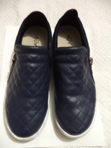Comodos Zapatos Casuales Azules Nuv 4.5 Mex P Dama