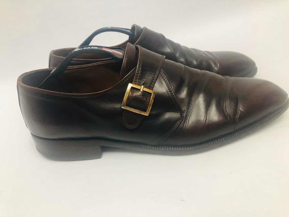 Zapatos Hombre 43 Plantilla 29 Marrón Rojizo Con Detalle