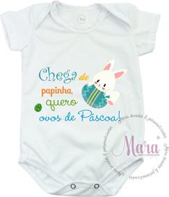 Bodie Personalizado Páscoa Chega De Papinho Quero Chocho 06