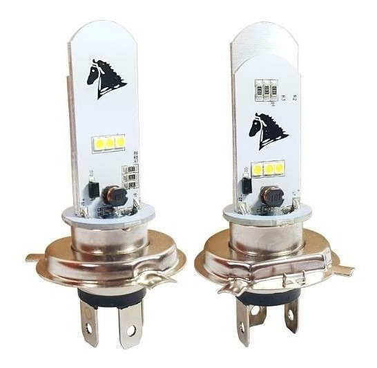 Lampada Farol Led Moto H4 Super Branca Nxr150 Nxr Bros 150