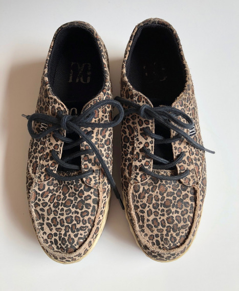 Zapatillas De Mujer Cuero 38.5 Marca Dc Plataformas Usa