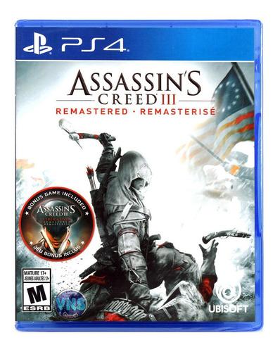 Imagen 1 de 4 de Assassin's Creed III Remastered Ubisoft PS4 Físico