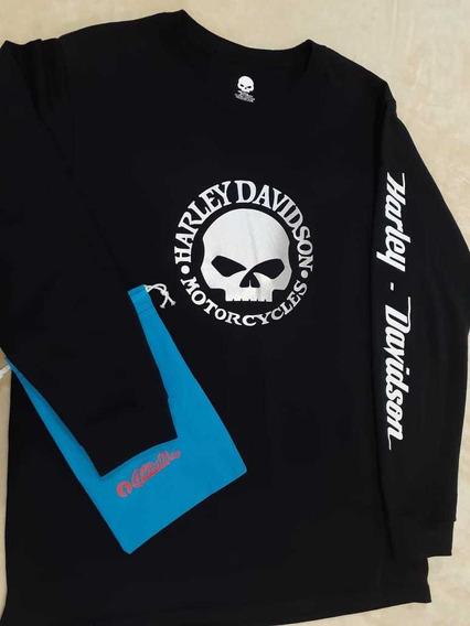 Playera Harley Davidson Skull