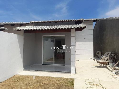 Casa Com 2 Dormitórios À Venda, 70 M² Por R$ 340.000,00 - Jardim Atlântico Leste (itaipuaçu) - Maricá/rj - Ca4702