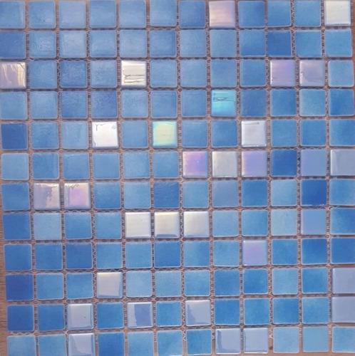 Imagen 1 de 8 de Venecita Mix Tornasol Azules Calidad Premium 2,5x2,5 Por M2