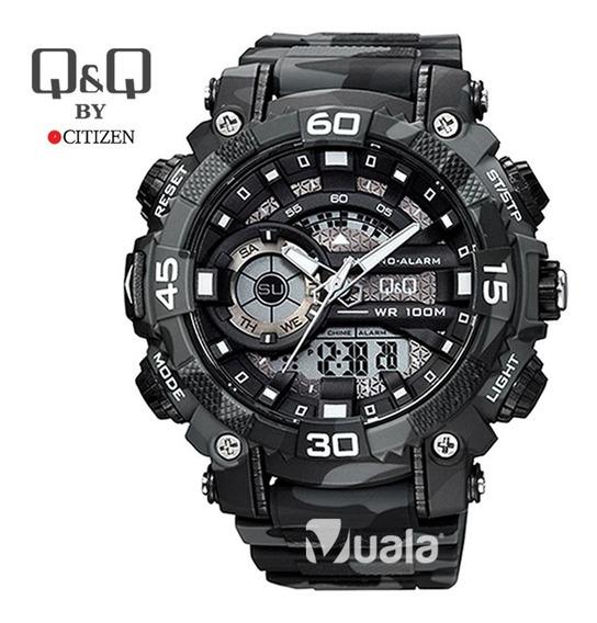 Reloj Deportivo Camuflado Plomo Militar Hombre Q & Q Citizen