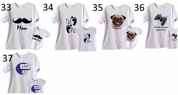 Camisetas Tal Pai Tal Filho Tal Filha Kit 6 Blusas (3 Kits)