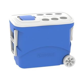 Caixa Termica Isopor Com Rodas 50l Azul