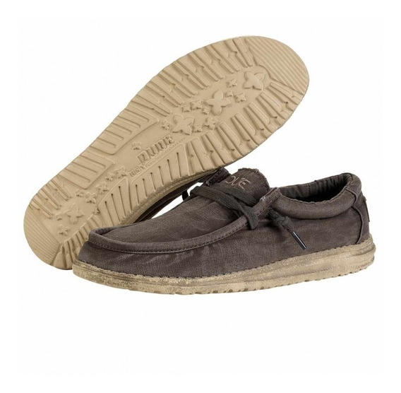 Zapato Nautico Hey Dude Wally Mud Lona Chestnut Dep