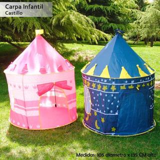 Carpas Castillo Niñas Y Niños (rosada Y Azul)
