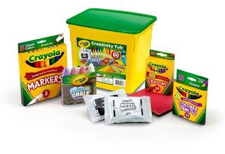 Kit Crayola Creativity Tub X80 Piezas Excelente Calidad