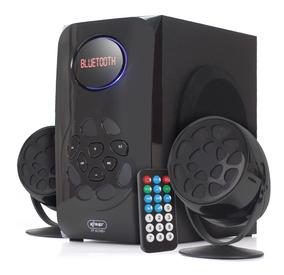 Caixa De Som Bluetooth Portátil Knup 6024bh Fm 2.1 Subwoofer