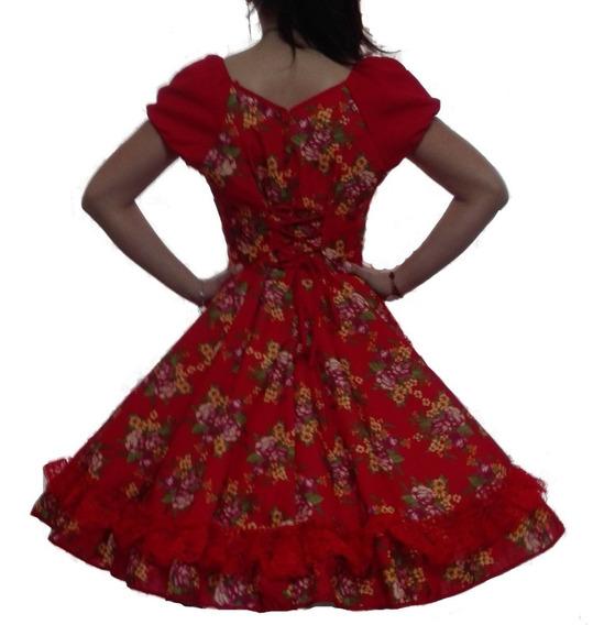 Vestido De Huasa Cueca China Talla S M L Xl Disponible