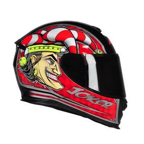 Capacete Moto Fechado Axxis Joker Coringa Preto/vermelho Rs1
