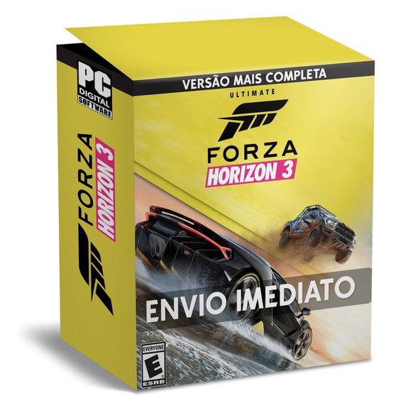 Forza Horizon 3 Pc Português - Envio Digital + Bônus 44 Dlcs