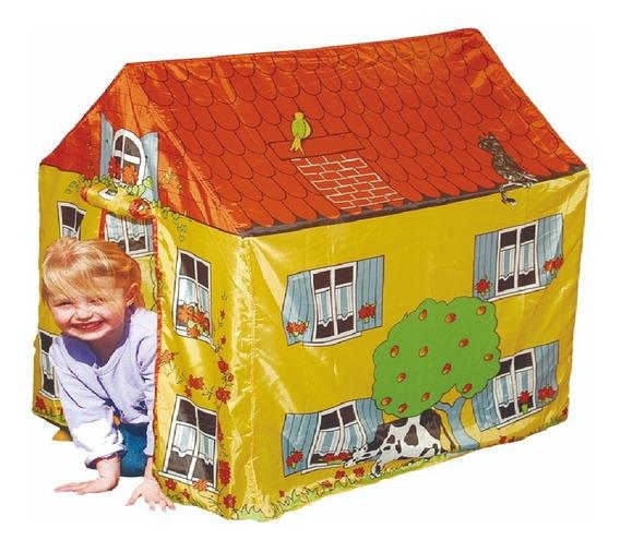 Carpa Granja Casa Infantil Tela Plástica Con Ventana 1283