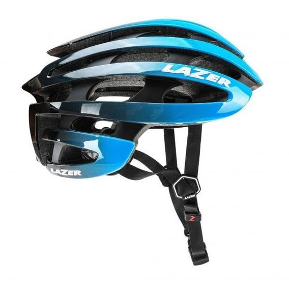 Capacete Ciclismo Lazer Road Z1 Preto/azul Tamanho M