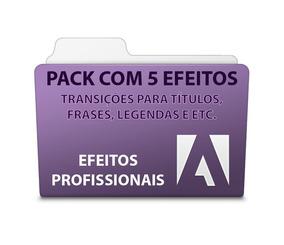 Pack 5 Efeitos Para Títulos E Frases - Adobe Premiere