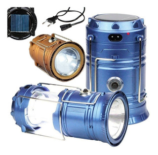 10 Lampião Solar De Led Lanterna Recarregável Para Camping