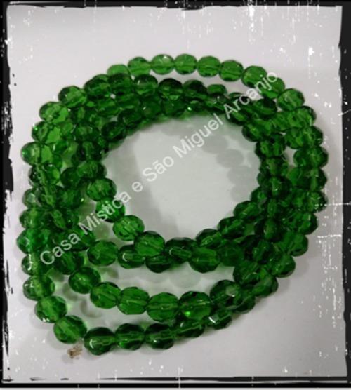 Guia De Cristal 126 Pedras Verde Oxossi Oxoce