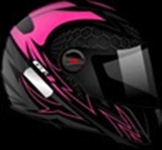 Capacete Gt-2 Preto Fosco-rosa Neon Tamanho 56