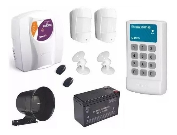 Kit Alarme Central Genno Ultra Slim 3 + Discadora Gsm Sulton